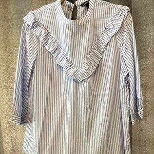 Express chambray striped top.